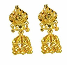 pleasing Plain Gold Plated Plain Earring genuine usual US gift - $11.87