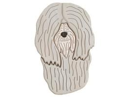 Tibetan Terrier - intarsia Wood Carving  - $110.99