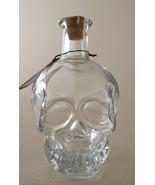 Pottery Barn Skull Glass Decanter Halloween Graveyard new - $54.44