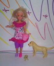 Barbie Sister Stacie Doll Bowling party with Dog n Puppy - $11.99