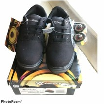 New With Tags Heelys Black Sneakers - Launch Style # 780155H -Youth 4 - $53.46