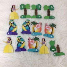 Luau Hulu Mini Tropical Honeycomb Party Supplies Table Decorations Flami... - $12.16