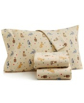 Martha Stewart Collection Cat's Meow Cotton 4-Pc. Flannel Full Sheet Set - $99.99
