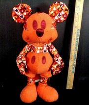 Disney Mickey Mouse Memories Plush July Orange Black Limited Edition LE USA - $79.19
