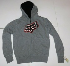 Fox Racing Syndicate Heather Grey Sherpa Hoodie Size Medium BNWT - $64.99