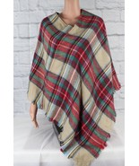 Blue pepper mint the right time poncho multicolor warm acrylico - $17.59