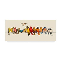 Trademark Fine Art Bird Menagerie I by Wendy Russell, 14x32-Inch 14x32 - $61.51