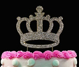 Yacanna Gold Bling Crystal Cake Toppers Crown Birthday Cake Toppers - $18.88 CAD