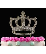 Yacanna Gold Bling Crystal Cake Toppers Crown Birthday Cake Toppers - $14.07