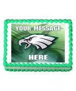Philadelphia Eagles Football Edible Cake Image Cake Topper - $8.98+