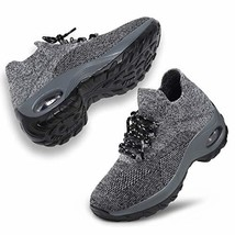 ANLUKE Women's Walking Shoes Mesh Sneakers - Slip On Air Cushion Platfor... - $31.90