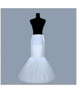 White Girls Petticoats Two Layers Tulle Mermaid Women Elastic Long Petti... - $25.33