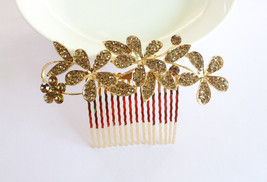 Bridal Hair Comb/Bridal Floral Hair Comb/Weddin... - $18.00