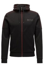 Hugo Boss Men's Premium Zip Up Sport Hooded Sweatshirt Track Jacket 50379119