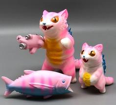 "Max Toy Pink Striped Negora w/ Micro Negora, Fish ""Gun"" and Fish image 1"