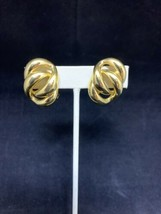 Napier Double Loop Clip On Earrings (1745) - $10.00