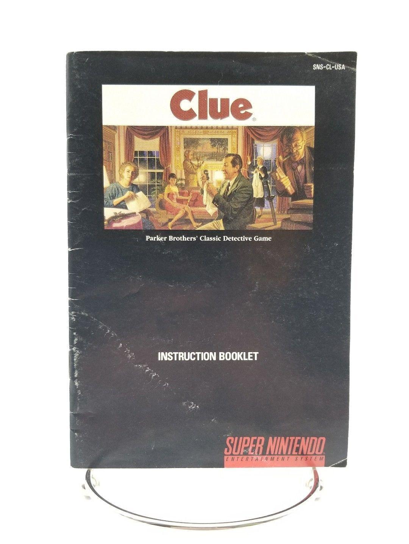 Super Nintendo Clue Instruction Booklet Manual Color Version SNES