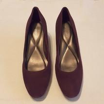 Easy Spirit Maroon Suede comfort Wedge Shoe Size 8.5 - $20.29