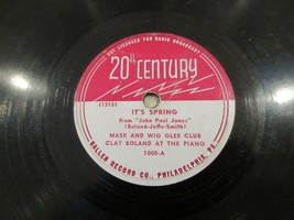 RPM Record , Mask & Wig Glee Club , It's Spring ,Don't Say We're Through - $25.00