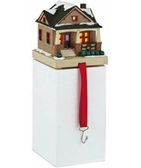 Hallmark CHRISTMAS IN EVERGREEN Stocking Holder COTTAGE New Tealight Candle - $22.27