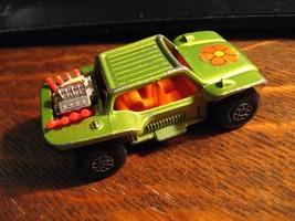 Matchbox Vintage Baja Dune Buggy Car - 1971 Lesney England Green Flower ... - $24.74