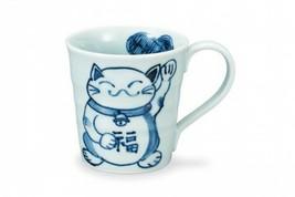 Kutani yaki ware Japanese Mug Coffee Tea cup Maneki neko Lucky cat Japan - $64.17