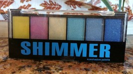 Profusion SHIMMER 6 Fun Color Powder Eyeshadow Palette Glitter Applicato... - $6.91