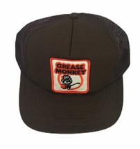 Grease Monkey Vintage Brown Adjustable SnapBack Cap Hat w Patch Flat Brim - $32.67