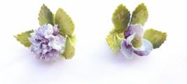 Vintage Purple ROYAL ADDERLEY FLORAL BOUQUET Place Card Holder Flower BO... - $25.95