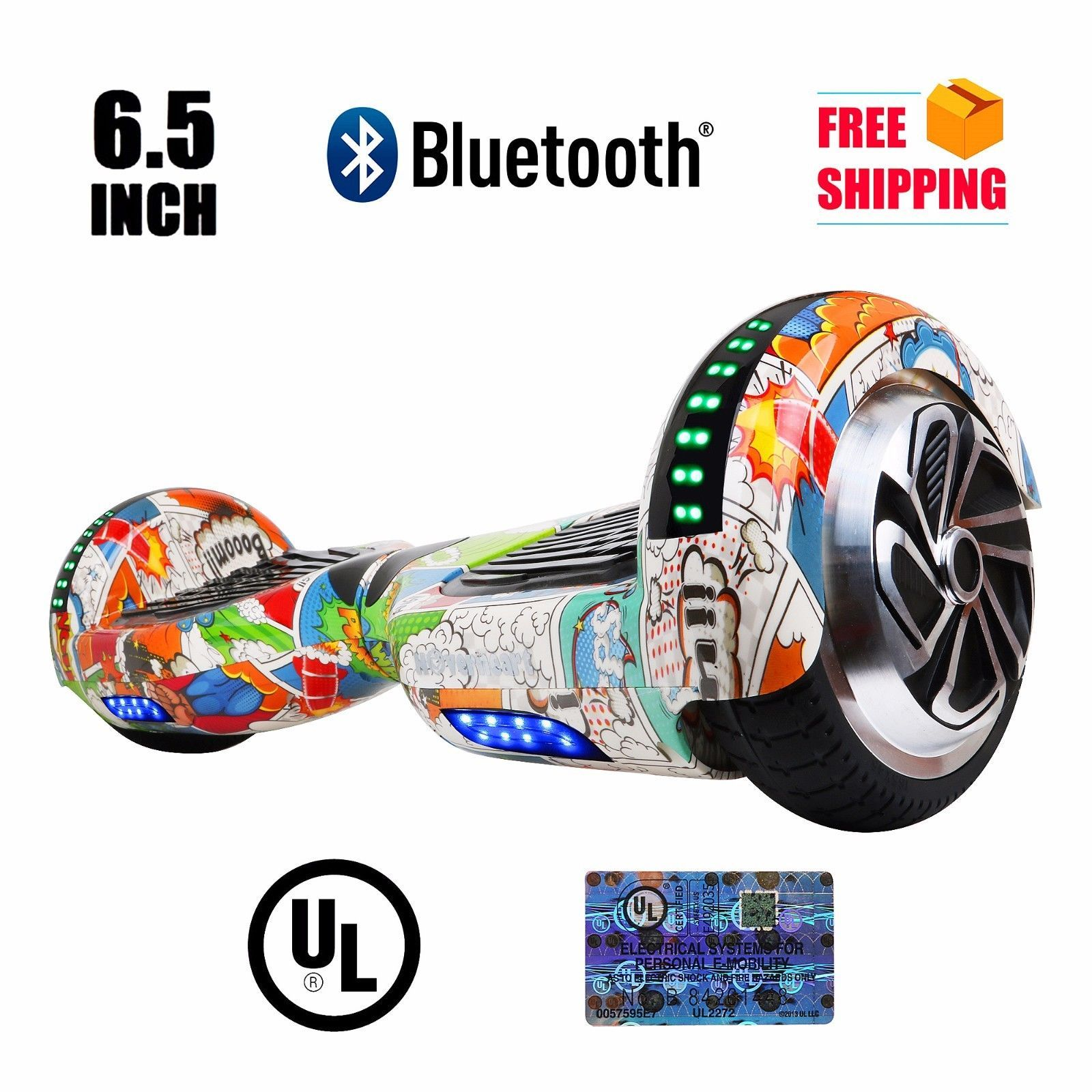 Super Hero Hoverboard Bluetooth LED's Two Wheel Balance Scooter UL2272