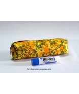 Malaysia Batik Barrel Pencil Case Pouch Zip Organizer Stationery Purse Penang - $12.99