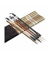 5 PCS Chinese Calligraphy / Kanji Brush Set (Goat Hair, Jian Hair, Wolf ... - $30.13