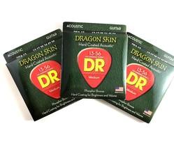DR Guitar Strings Acoustic Dragon Skin 3-Pack 13-56 - $24.18