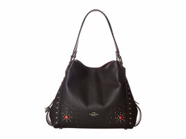 NWT COACH EDIE 31 WESTERN RIVETS LEATHER SHOULD... - $232.19
