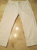 White House Black Market Capri Jeans Size 4 Women's White Embroidery Pocket #H1 - $18.99