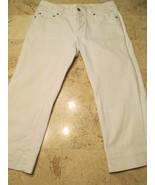White House Black Market Capri Jeans Size 4 Women's White Embroidery Poc... - $18.99