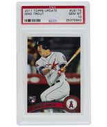 2011 Mike Trout Topps #US175 Angels Update Rookie RC Baseball Card PSA G... - $4,267.99