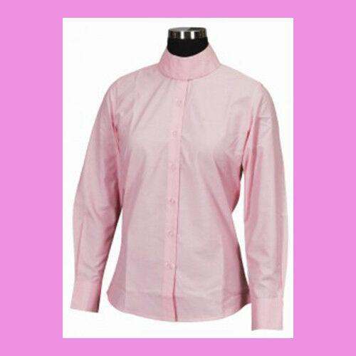 Tuffrider Kids Long Sleeve Show Shirt PINK size 8  NEW