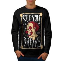 Clown Dream Scary Horror Tee  Men Long Sleeve T-shirt - $14.99