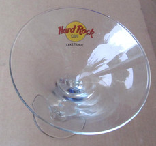 "Hard Rock Cafe ""LAKE TAHOE"" Split Stem Martini Collectible Glass With Logo - $14.99"
