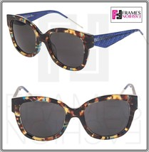 CHRISTIAN DIOR VeryDior 1N Translucent Blue Brown Havana Square Sunglasses - $277.20