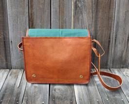 Retro Genuine Leather Handbag Shoulder Bag Small Crossbody Bag Men Messe... - $54.45