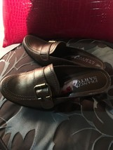 WOMENS FRANCO SARTO BROWN LEATHER SLIDES MULES SHOES - SIZE 5 image 2