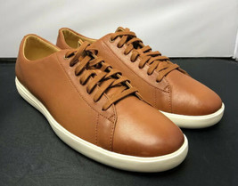 COLE HAAN Grand OS Shoes Crosscourt Sneaker Tan Oxford C26521 Mens Size 10 - $79.20