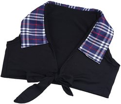 dPois Womens School Girl Cosplay Fancy Dress Costume Crop Top with Plaid Mini Sk image 4
