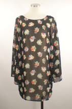 Audrey 3+1 Anthropologie Floral Boho Wispy Dress Sz Medium - $16.82