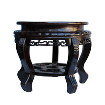 Chinese Brown Wood Handmade Round Table Top Stand Display Easel ws126 - $350.00
