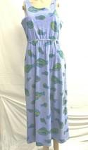 AS IS Fresh Produce sz m sleeveless maxi dress fish design with pockets - $50.00