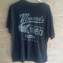 MENARDS logo tee XL chain Wisconsin contractor 1960 T shirt college - $17.28