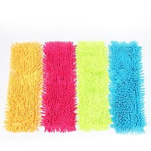 Easy Wash Floor Folding Flat Mop Head Coral Velvet Chenille Refill Repla... - $3.35